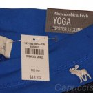 ABERCROMBIE & FITCH WOMENS A&F YOGA LEGGINGS PANTS NAVY BLUE SZ S SMALL NEW NWT