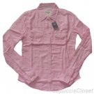 ABERCROMBIE & FITCH WOMENS FALLON LIGHT PINK BUTTON DOWN OXFORD SHIRT XS NEW NWT