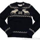 ABERCROMBIE & FITCH MENS GOTHICS MOUNTAIN NAVY HEAVY WOOL SWEATER SZ XL NWT $200