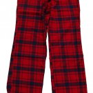 ABERCROMBIE & FITCH SARAH RED NAVY PLAID FLANNEL SLEEP PAJAMA PANTS L LARGE NWT