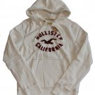 HOLLISTER CALIFORNIA MENS WARNER SPRINGS CREAM FLEECE HOODIE SWEATSHIRT SZ L NWT
