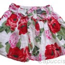 ABERCROMBIE & FITCH WOMENS KAYLIE WHITE FLORAL PRINT SASH BELT MINI SKIRT XS NWT