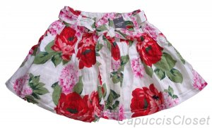 ABERCROMBIE & FITCH WOMENS KAYLIE WHITE FLORAL PRINT SASH BELT MINI SKIRT M NWT