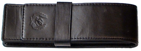 Laban Genuine Leather Double Pen Pouch