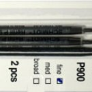 Parker Style Ballpoint Ink Refill Blue Fine Point 2 Pack