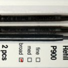 Parker Style Ballpoint Ink Refill Red Broad Point 2 Pack
