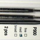 Parker Style Ballpoint Ink Refill Green Medium Point 2 Pack