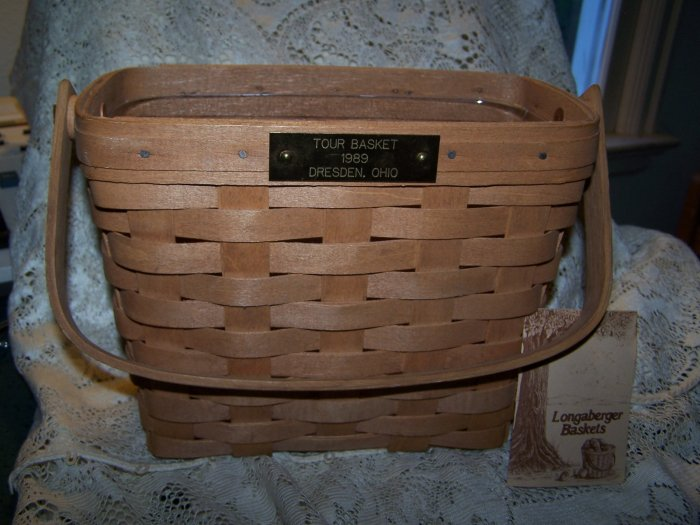1989 Longaberger Dresden Tour Basket Signed by Dave, Bonnie, Tami, Rich, Joanne Longaberger