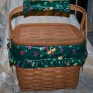 Longaberger 1991 Weekender Super Combo Basket Set with Liner, Protector and Handle Gripper