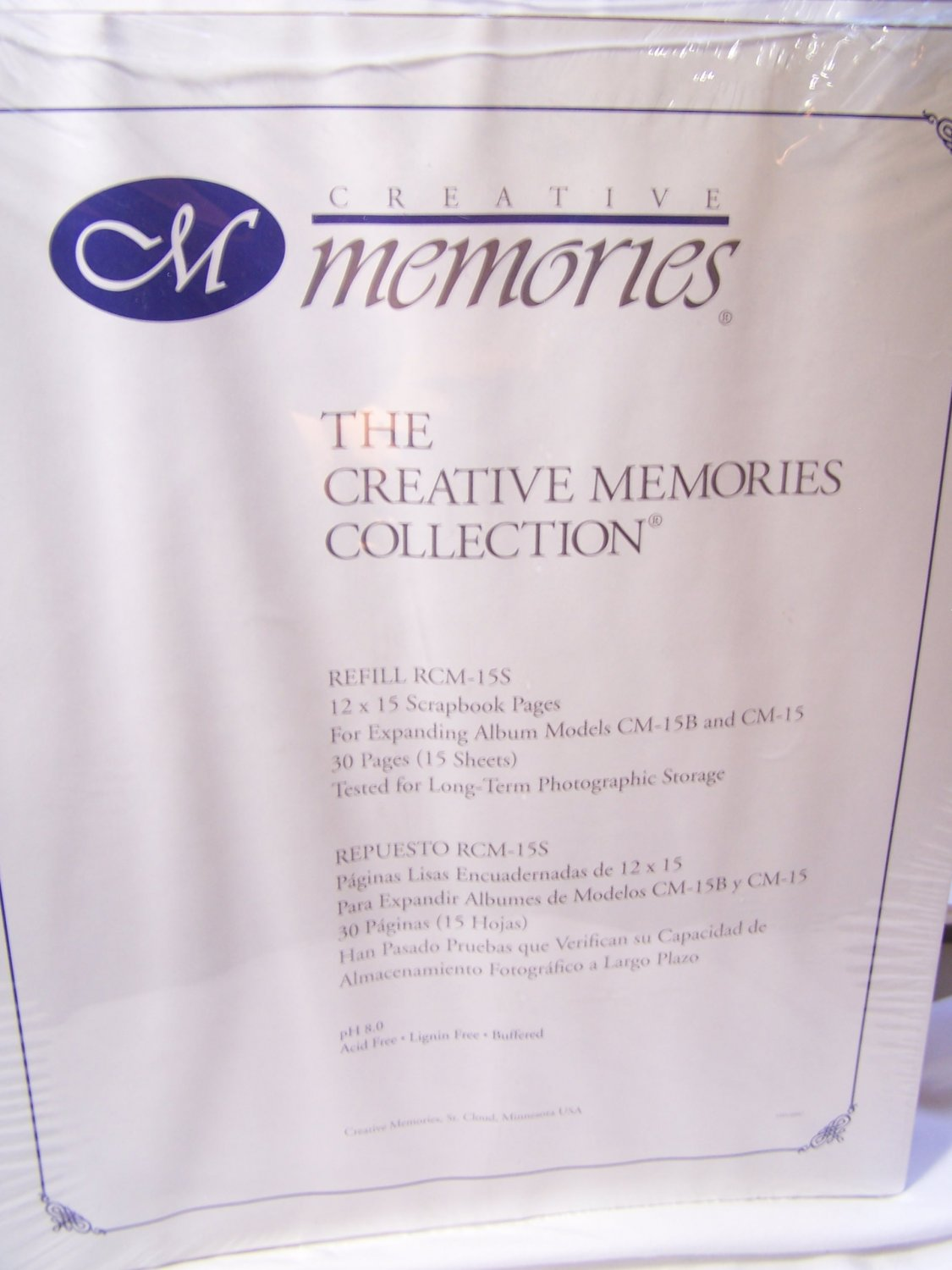 Creative Memories 12 x 15 Scrapbook Refill Pages