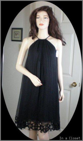 CATHERINE MALANDRINO Chiffon Cutwork Dress 2 NWT $425