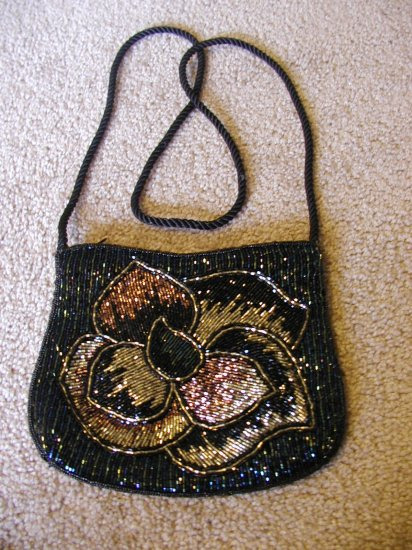 Hand Beaded Evening Purse