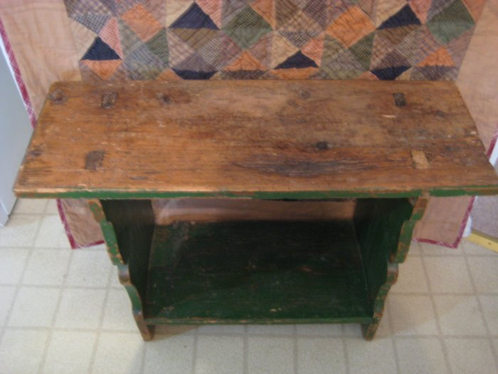 Primitive Crock Bench