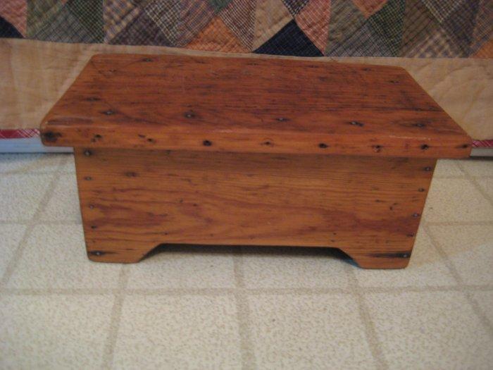 Primitive Antique Wood Stool
