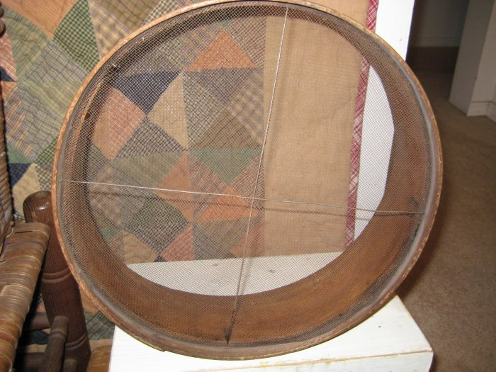 *Primitive* Two Wooden Screen Sifters