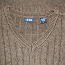 Men's Izod Chocolate Brown Sweater Vest Size L