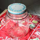 Antique Deep South Glass Peanut Butter Jar with Metal Bail