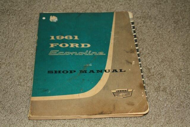Vintage 1961 Ford Econoline Shop Manual