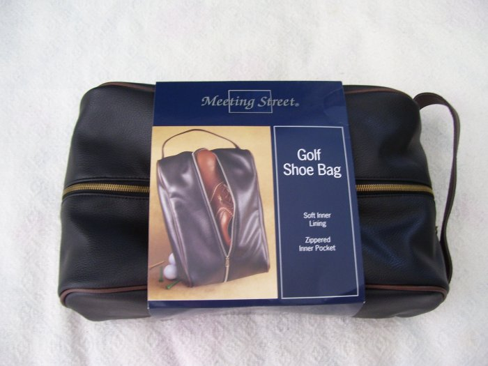Golf Golfers NEW MEETING STREET BLACK GOLF SHOE BAG