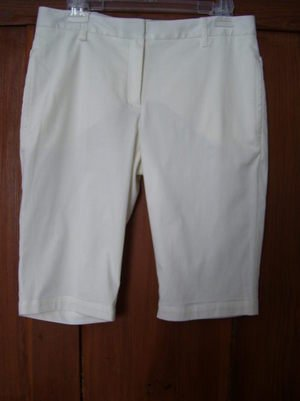 Womens New Sophie Max Denise White Bermuda Shorts 6