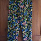 Womens New Liz Claiborne Michaela Blue Pink Yellow Pants 10