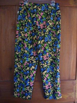 Womens New Liz Claiborne Michaela Blue Pink Yellow Pants 10
