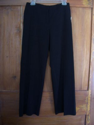 Womens New Madison Studio Petite Black Pants 4P