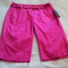 Womens New Rafaella Hot Pink Sateen Modern Fit Bermudas 6