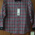 Girls Blouse Wrangler Red Gray Black Plaid Western  Shirt 14