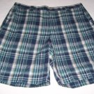 Mens Shorts Columbia Blue Plaid 36