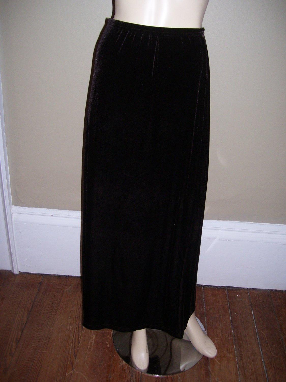 Womens Plus Size Dark Brown Unbranded Velour Velvet Skirt 1X