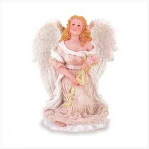 Angel and Rose Figurine