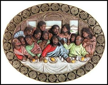 Last Supper  Oval Plaque