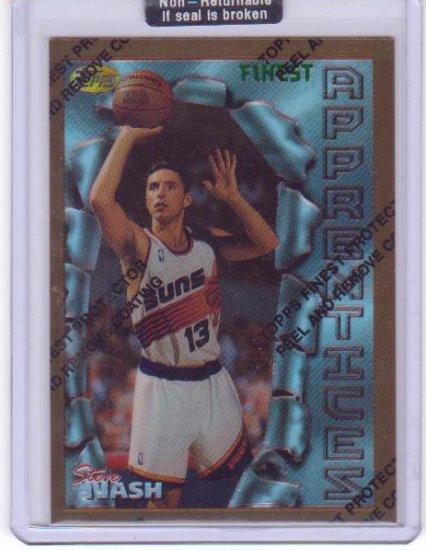 1996/1997 Steve Nash Topps Finest Refractor #75 RC Rookie Mint