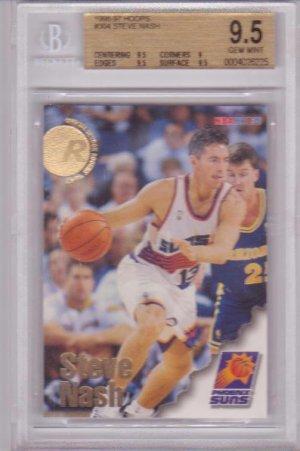 1996 1997 Steve Nash Hoops  BGS 9.5 RC Rookie #304