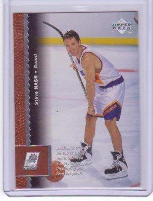 "1996 1997 Steve Nash UD ""Hockey Stick"" #280 RC Rookie"