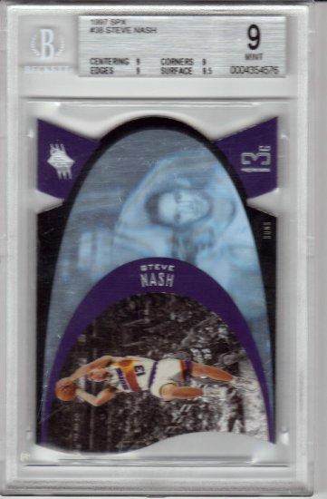 1996 1997 Steve Nash SPX Premium Holographic Die Cut Blue BGS 9 RC Rookie