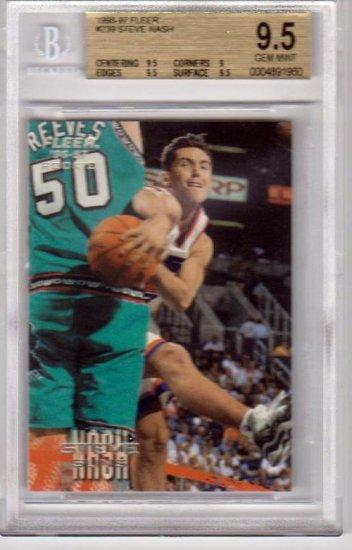 1996 1997 Steve Nash Fleer Euro BGS 9.5 #239 RC Rookie