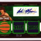 "2006 2007 Adam Morrison Triple Threads Auto 8/18 2 Color ""The Stach"" Patch RARE Rookie RC"