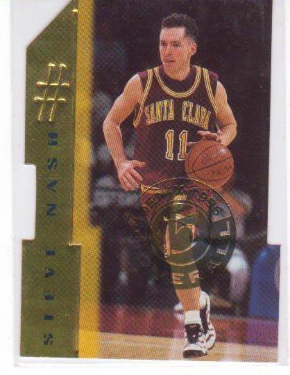 1996/1997 Steve Nash Santa Clara Die Cut 15 of 30 RC Rookie