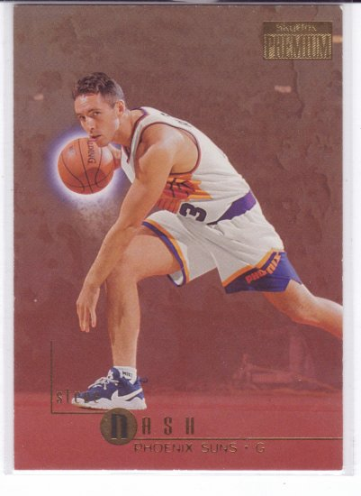 1996 1997 Steve Nash Skyybox Premium Gold #91 RC Rookie