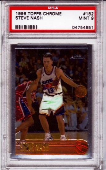 1996/1997 Steve Nash Topps Chrome PSA 9 RC Rookie PSA: 04754651