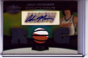 2006 2007 Adam Morrison Triple Threads Auto 7/25 # Sepia Patche Rookie RC