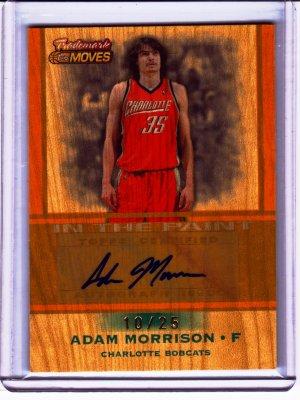2007 208 Adam Morrison Trademark Moves Wood Auto 10/25