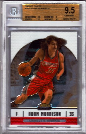 2007 2008 Adam Morrison Finest BGS 9.5 - Great present for the kids