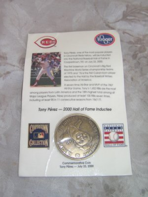 Tony Perez Induction Into The Hall of Fame Coin