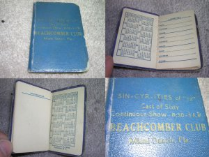 "1952 SIN-CYR-ITIES of �52"" Advertising Address Book"