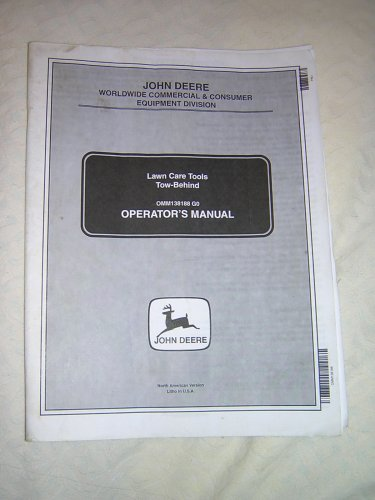 JD Tow Behind Lawn Tools Operator Manual, Roller, Thatcher, Plug, Spike & Spreader Aerator