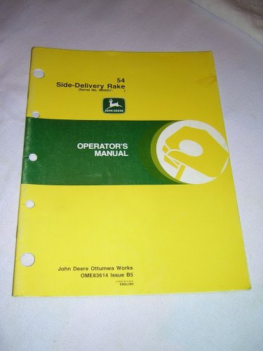 John Deere 54 Side-Delivery Rake Operator�s Manual