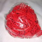 KNEX 100 piece Lot of Red Connectors